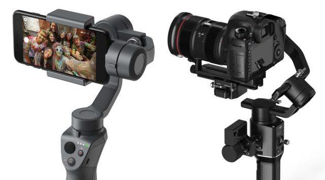 DJI анонсировала два стабилизатора для камер