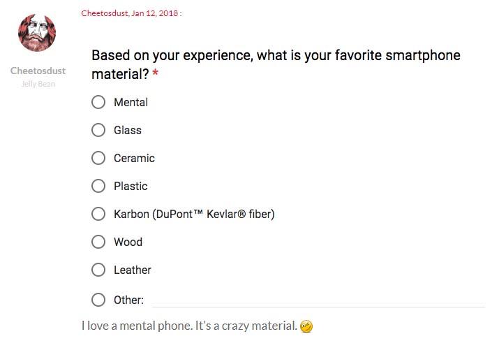 OnePlus проводит опрос по материалам корпуса для OnePlus 6