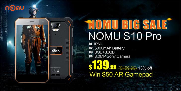 Грандиозная распродажа защищенных смартфонов Nomu!