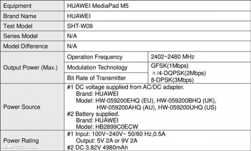 Новый планшет Huawei MediaPad M5 замечен в FCC