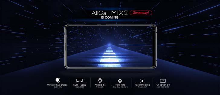 AllCall Mix2 с функцией Face ID и полноэкранным дисплеем 18:9