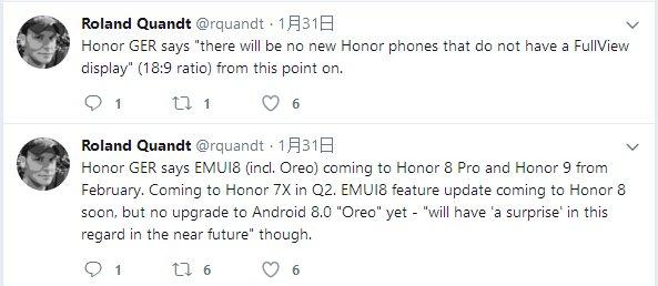 Все следующие модели Honor будут полноэкранными