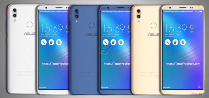 Zenfone 5 от Asus предстал на новых рендерах