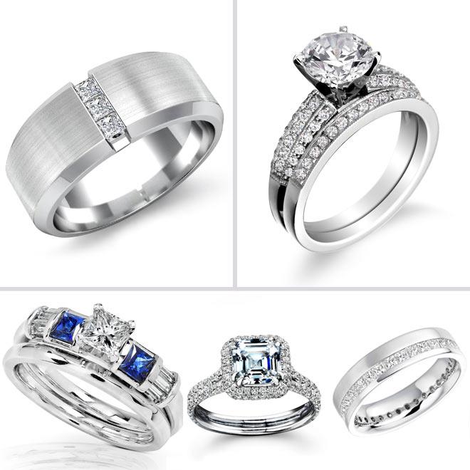 Большой выбор колец разной формы и стоимости