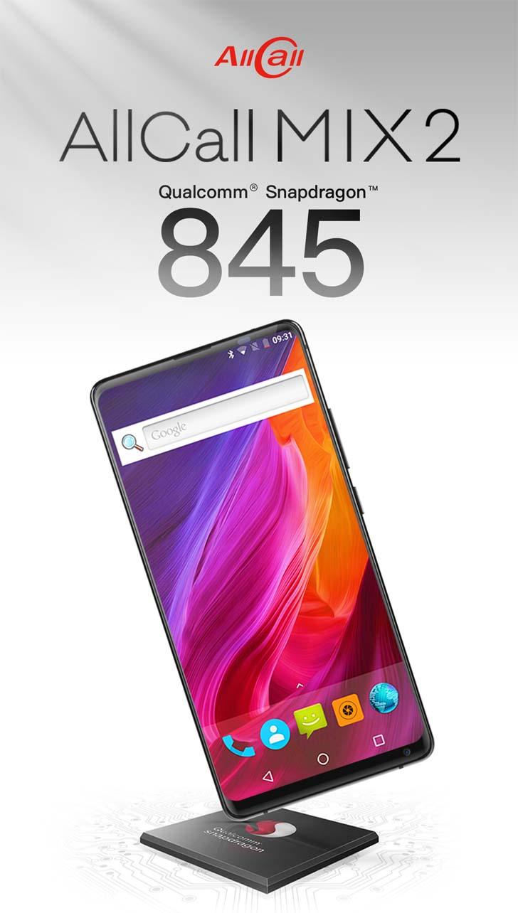 Новая версия смартфона AllCall Mix2 получит чип Snapdragon 845