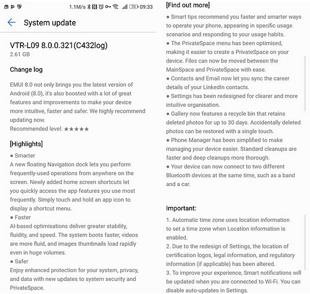 Huawei P10 / P10 Plus начал получать Android Oreo