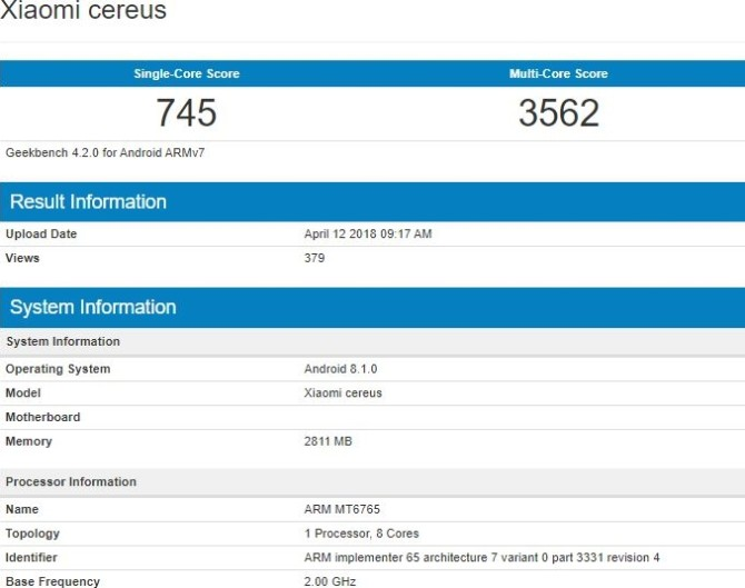 Vivo и Xiaomi готовят смартфоны на неизвестном чипе MediaTek MT6765
