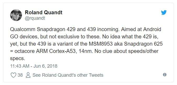 Qualcomm готовит чипы начального уровня Snapdragon 429 и Snapdragon 439