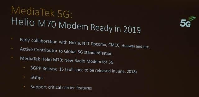 Компания MediaTek представила 5G-модем Helio M70