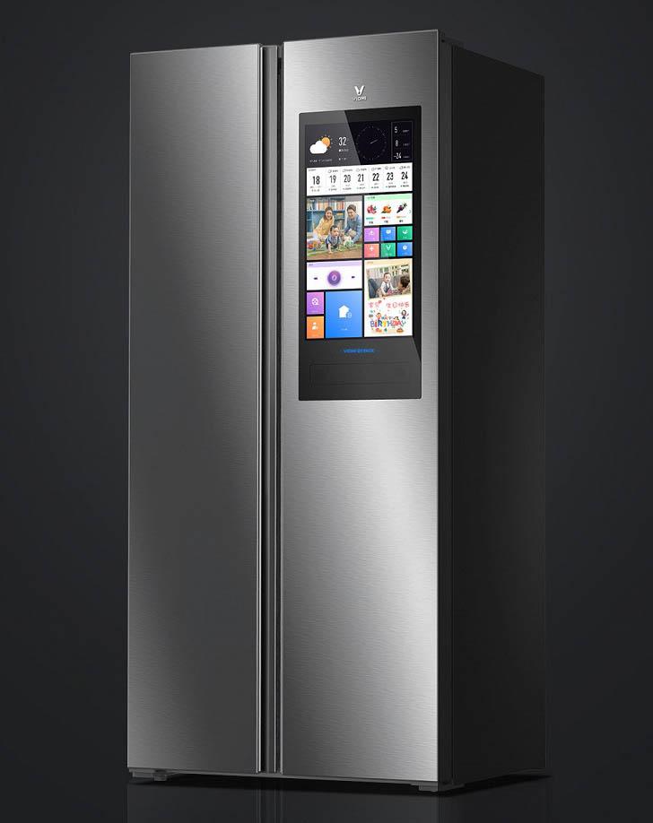 Xiaomi Yunmi 450L - смарт-холодильник с огромным дисплеем