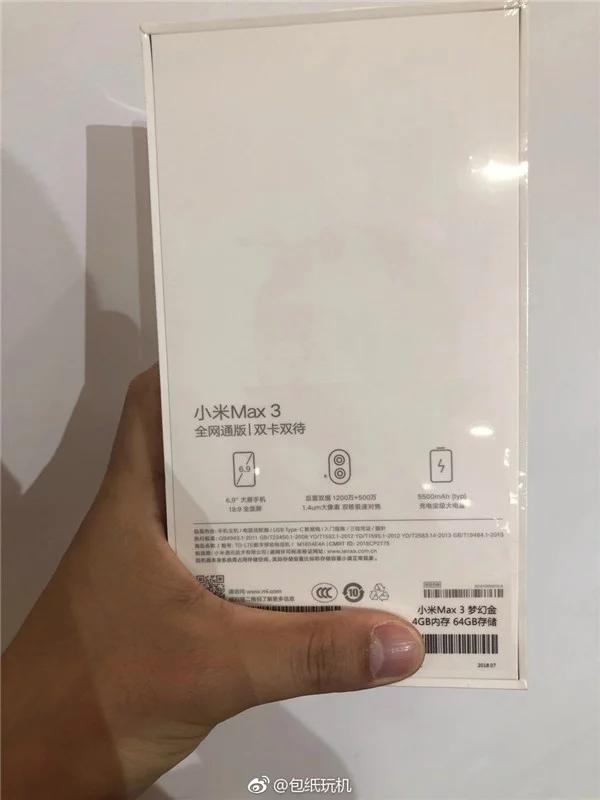Опубликованы новые фото и спецификации Xiaomi Mi Max 3