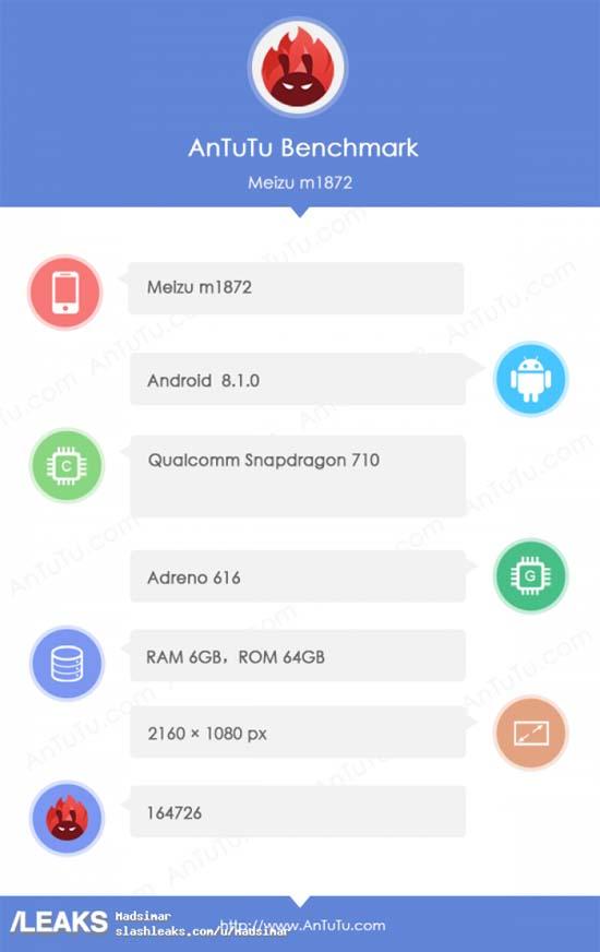 Неанонсированный Meizu 16X замечен в бенчмарке AnTuTu