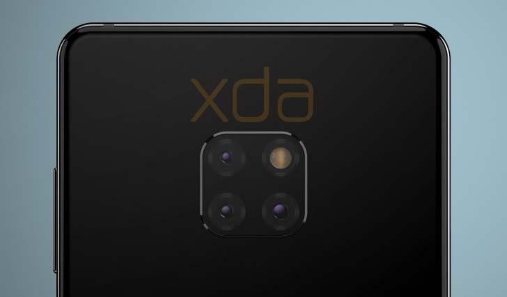 Камера смартфона Huawei Mate 20 будет расположена квадратом