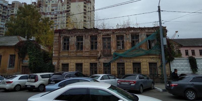 Однако, неожиданно…: За участок с полуразрушенным «Домом агронома Вагнера» в центре Воронежа предложили более 10 млн руб.