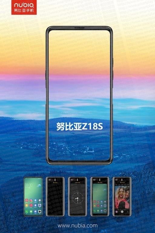 Смартфон Nubia Z18s с двумя экранами теперь и на видео