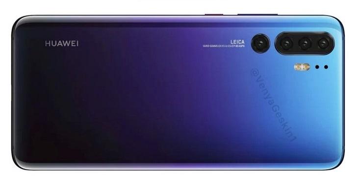 Huawei P30 Pro предстал на реалистичных рендерах