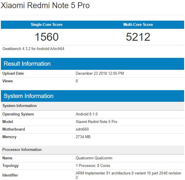 Xiaomi Redmi Note 5 Pro может получить конфигурацию со Snapdragon 660