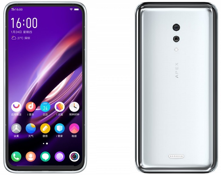 Vivo Apex 2019 – еще один смартфон без клавиш и разъемов