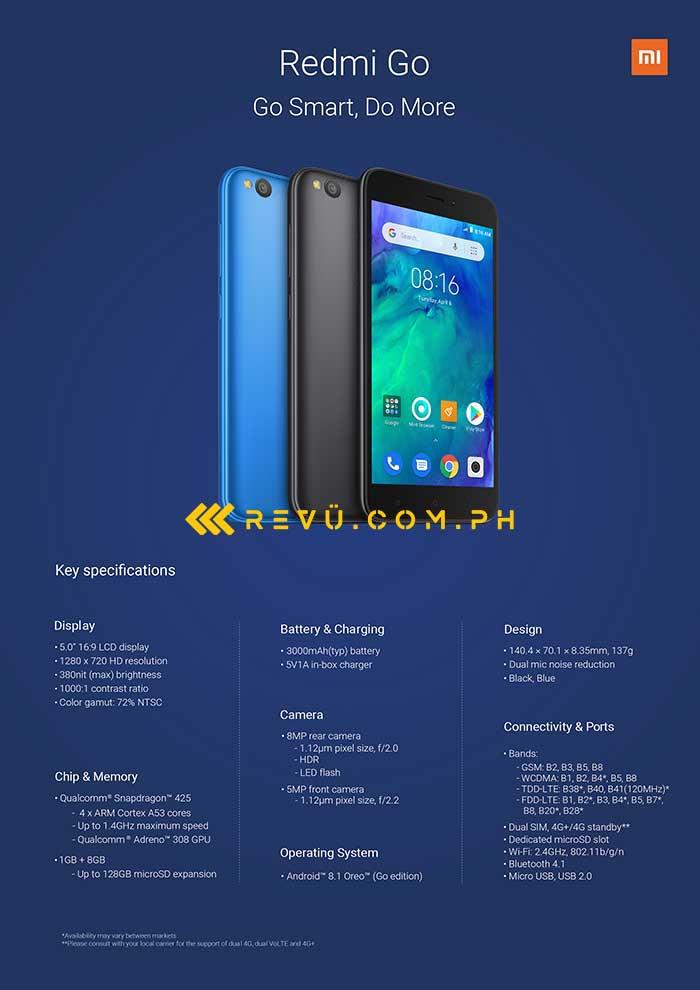 Бюджетный смартфон Xiaomi Redmi Go полностью рассекречен