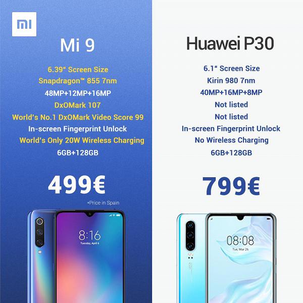 Xiaomi троллит Huawei P30