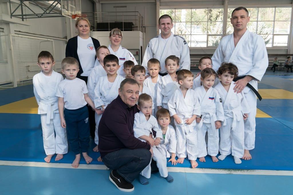 Ротенберг Аркадий посетил тренировку по программе