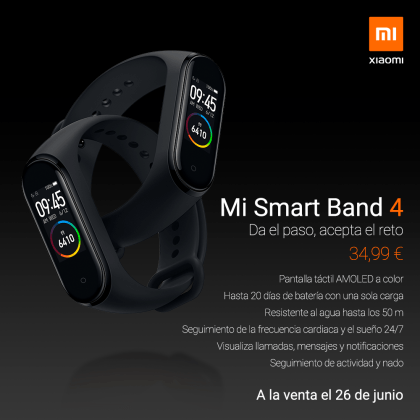 Xiaomi Mi Band 4 представлен в Европе