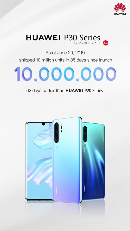 Huawei P30 и P30 Pro продаются почти вдвое быстрее, чем Huawei P20 и P20 Pro