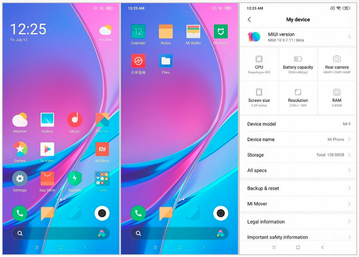 Появились скриншоты MIUI на базе Android 10 Q