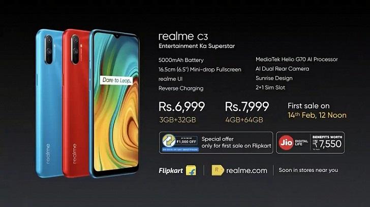 Анонсирован бюджетный смартфон Realme C3 на Helio G70 за 90 евро