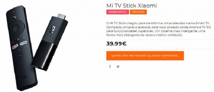 Стала известна цена приставки Xiaomi Mi TV Stick в Европе