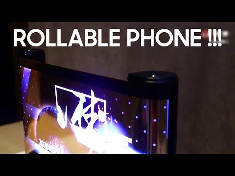 TCL показала рабочий прототип смартфона со скручивающимся дисплеем