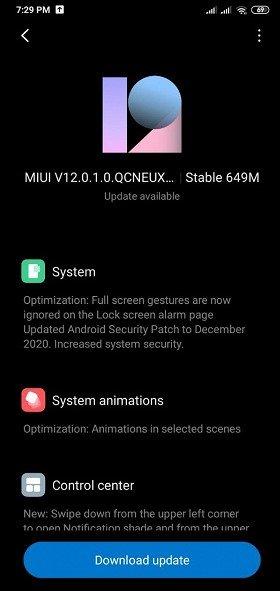 Владельцы украинской версии Redmi 8 начали получать обновление до MIUI 12