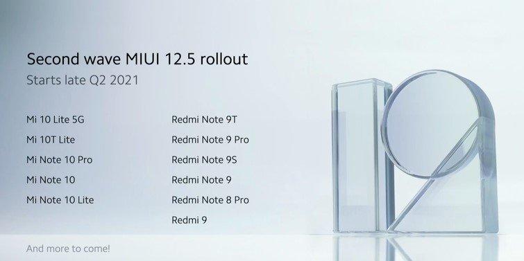 Какие 18 смартфонов Xiaomi обновит первыми до MIUI 12.5