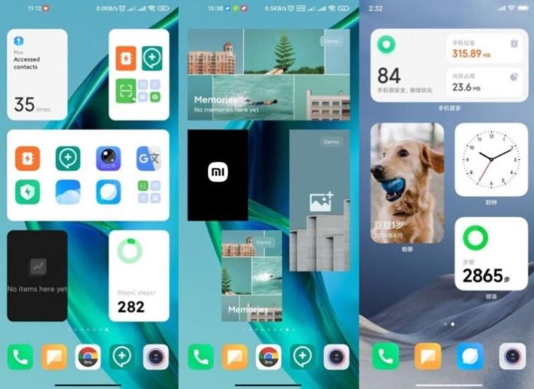 Xiaomi тестирует новую систему виджетов для MIUI в стиле iOS